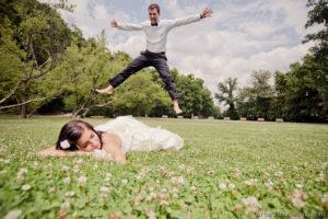 Jump of groom