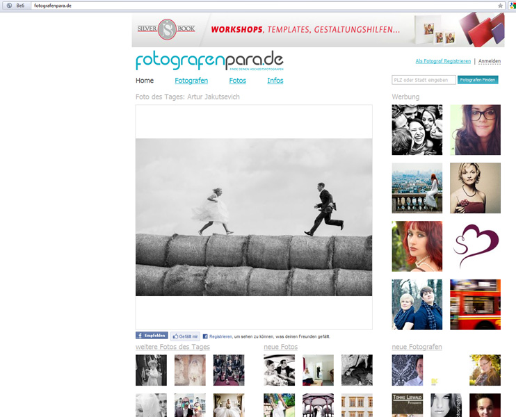 German wedding site: you made the photo of the day