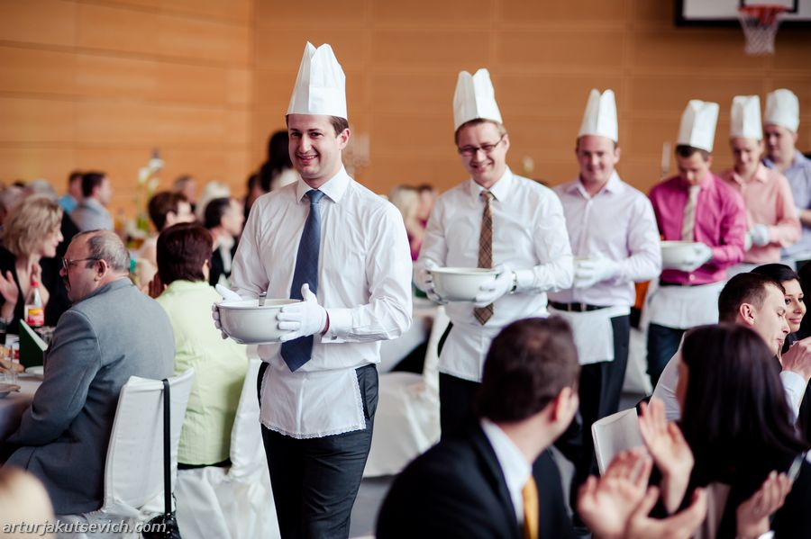 Wedding reception in Germany