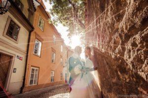 wedding photo in Prague