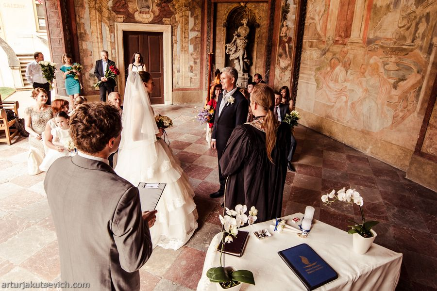 Prague luxury wedding ceremony