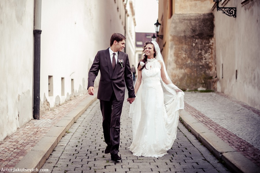 Romantic wedding in Prague