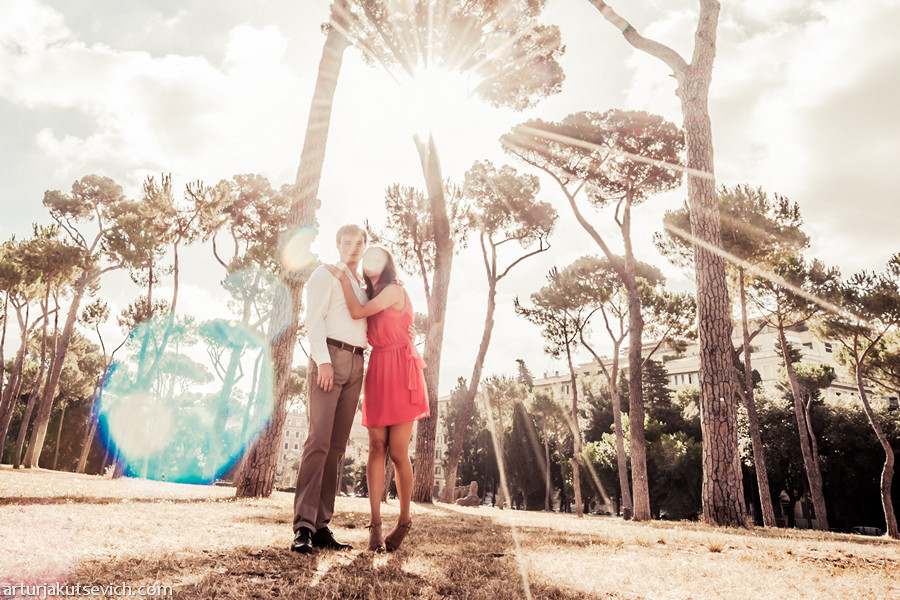 Pre wedding photography in Rome and Italy