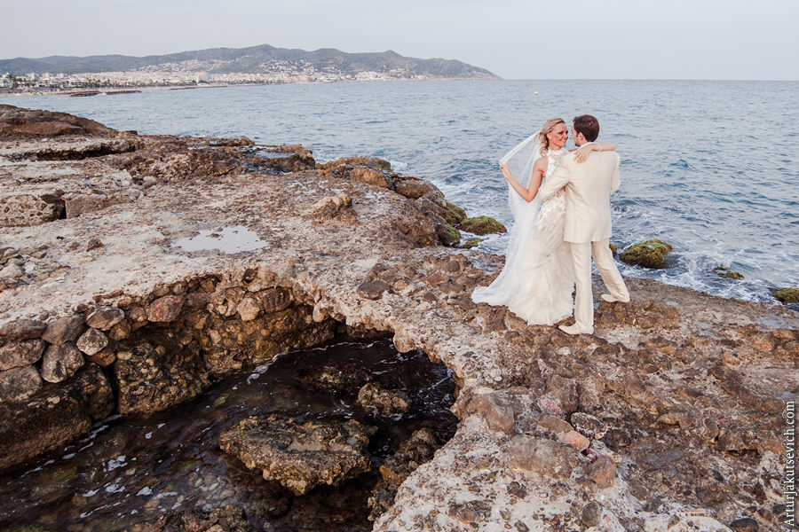 wedding in Spain - photosession on see