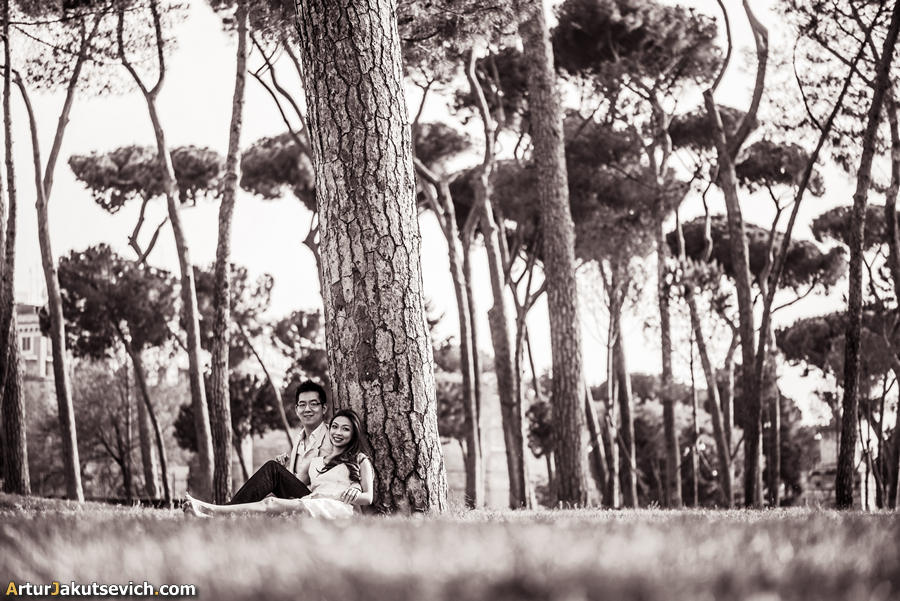 Villa Borghese in Rome photo