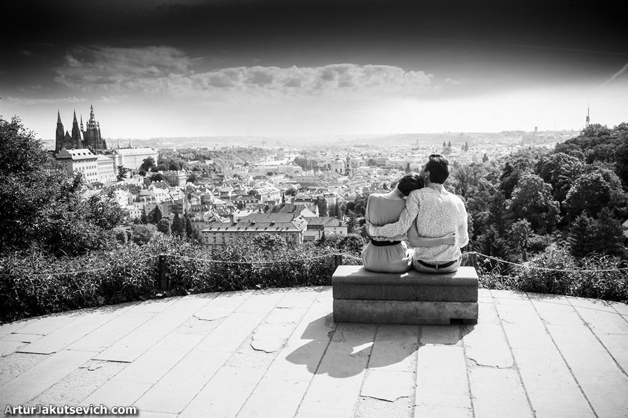 Romantic photo in Prague