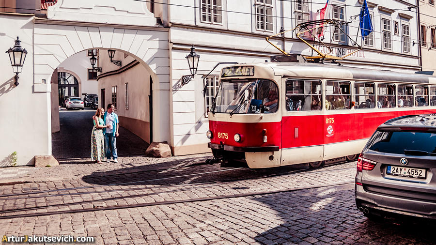 Prague trams photo