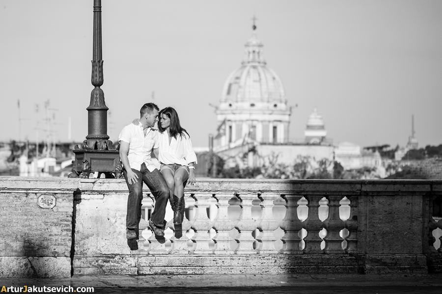 Pre-wedding photo shooting in Rome