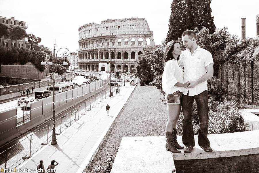 Pre-wedding photography in Rome and Italy