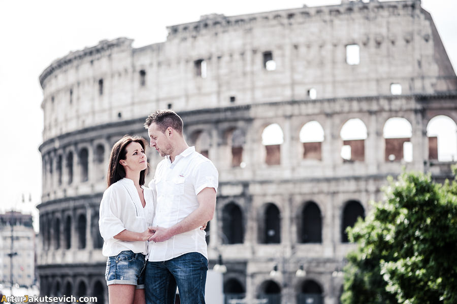 Pre-wedding photography in Rome