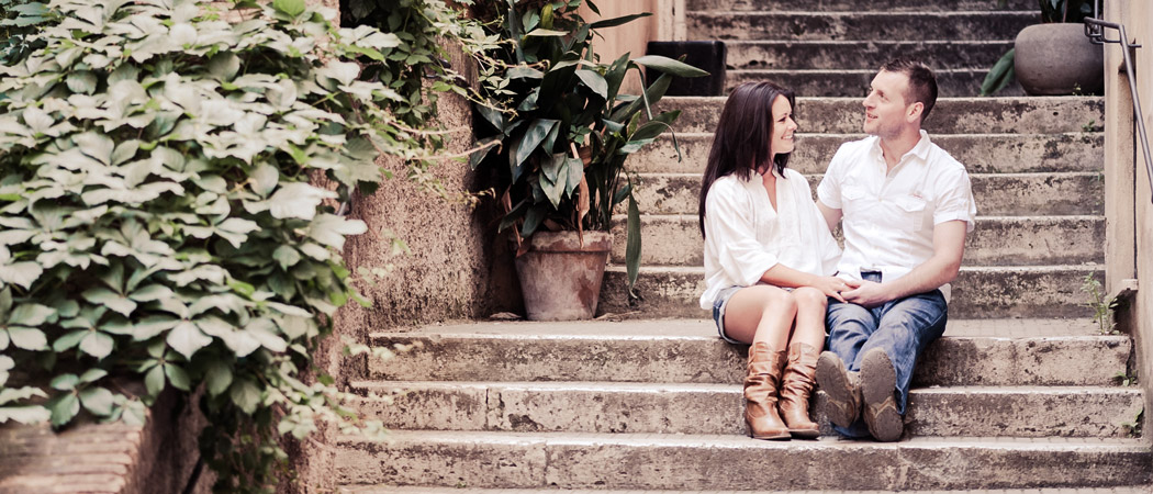 Engagement in Rome one amazing morning photos Eimear and Willy