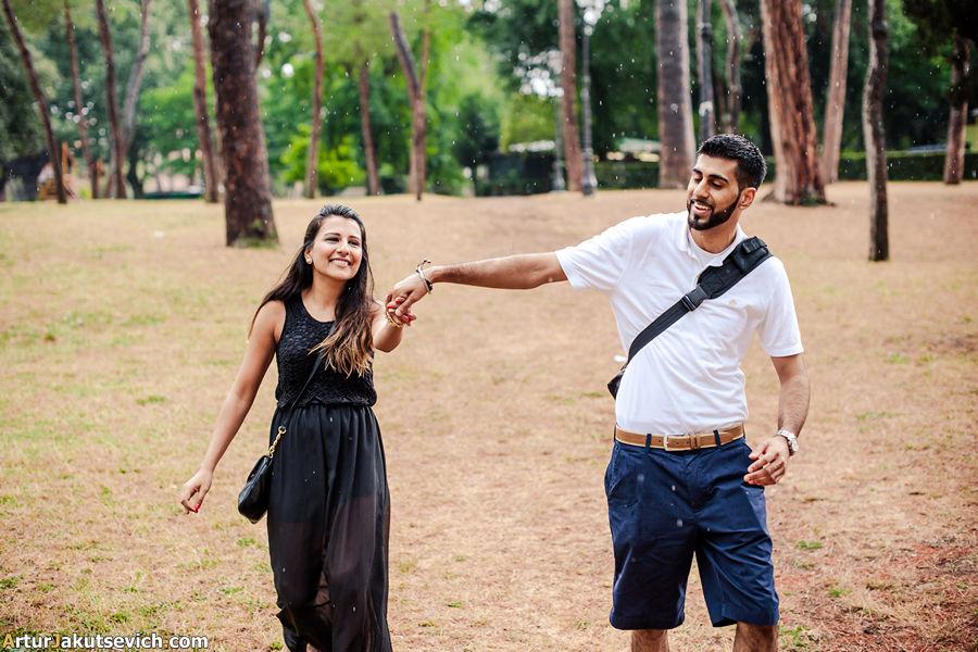 Happy couple in Rome