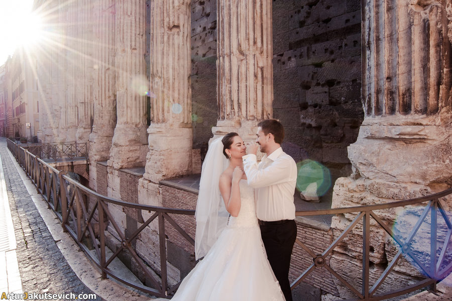 Honeymoon in Rome photo shooting