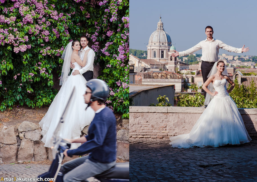 Honeymoon in Rome photography