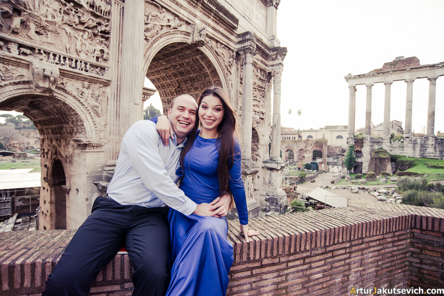 Engagement story from Rome