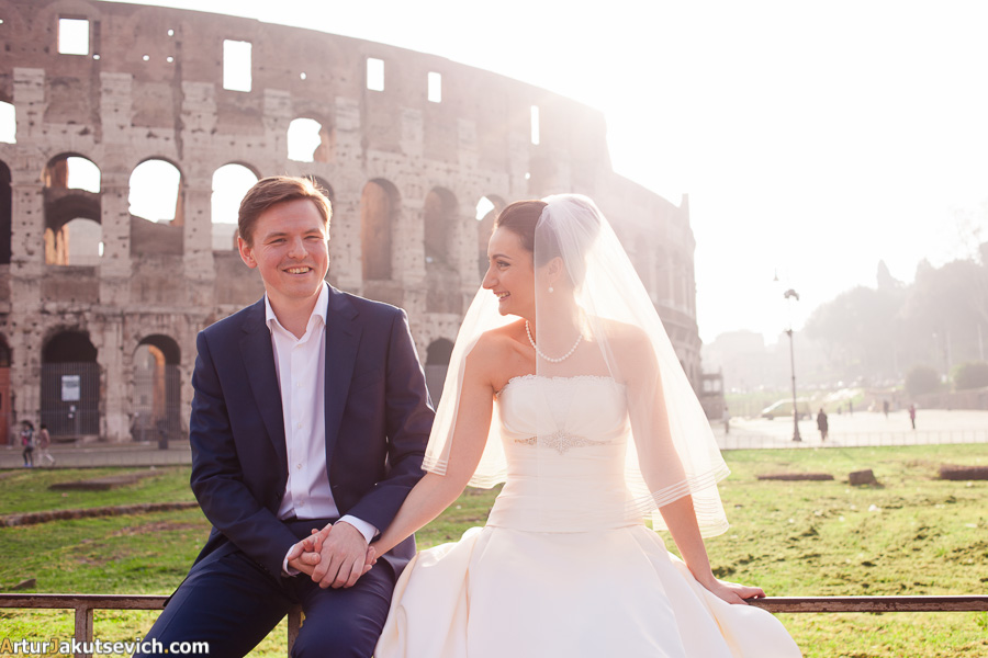 Honeymoon in Rome and Italy photographer Artur