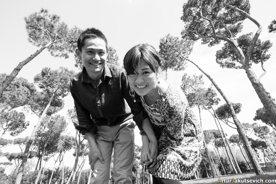 Risa and Tatsuya in Rome