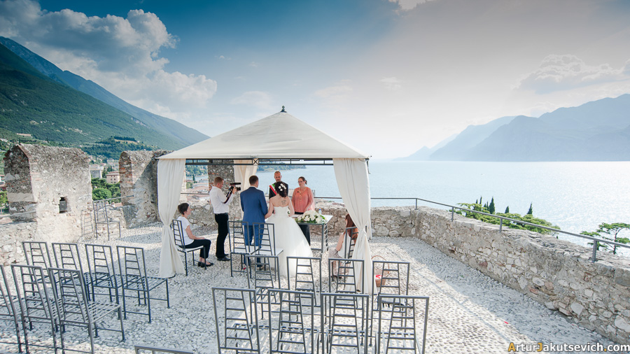 Garda Lake wedding ceremony
