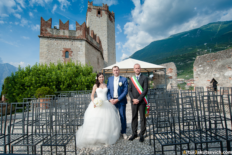 Wedding in Malcesine Castle