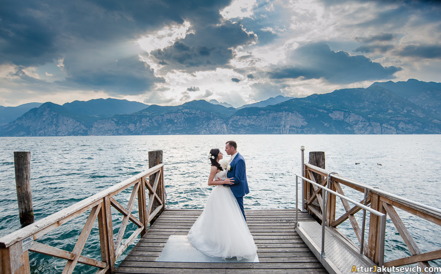 Italy Garda wedding photo