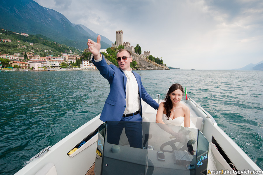 Wedding at Garda lake photo and video