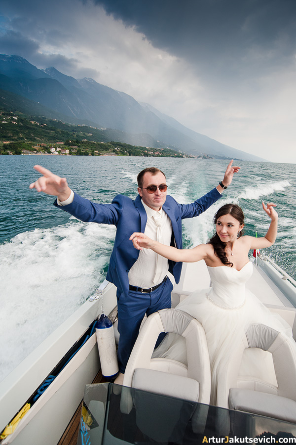 Wedding trip at Garda