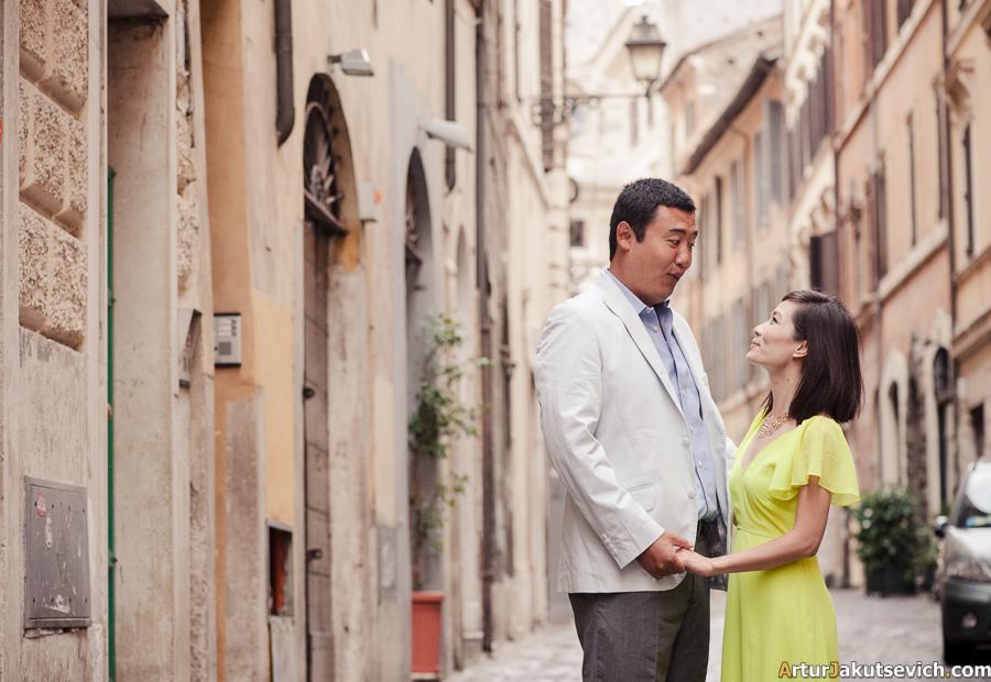 Wedding anniversary in Rome