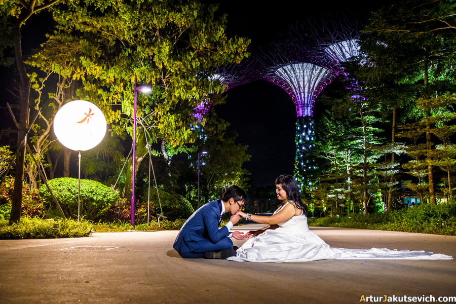 Wedding photo in Singapore