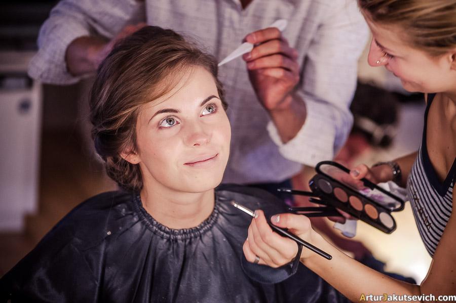 Professional wedding make up in Prague