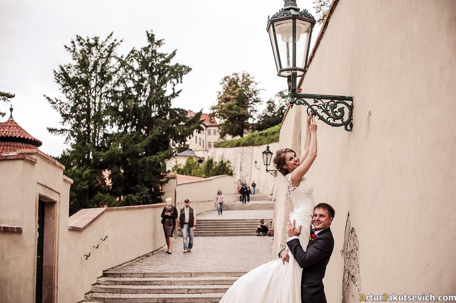Wedding photo shooting in Prague
