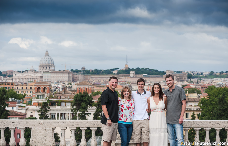 Family photography in Rome