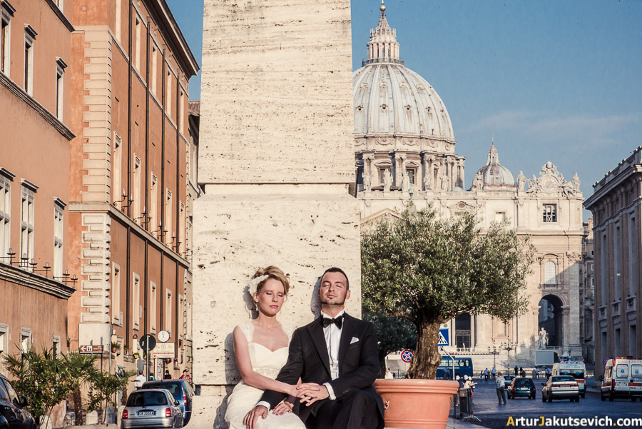 Photoshooting in Vatican