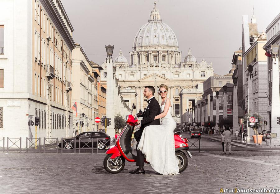 Rome Vespa photo