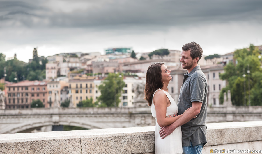Romantic photography in Rome