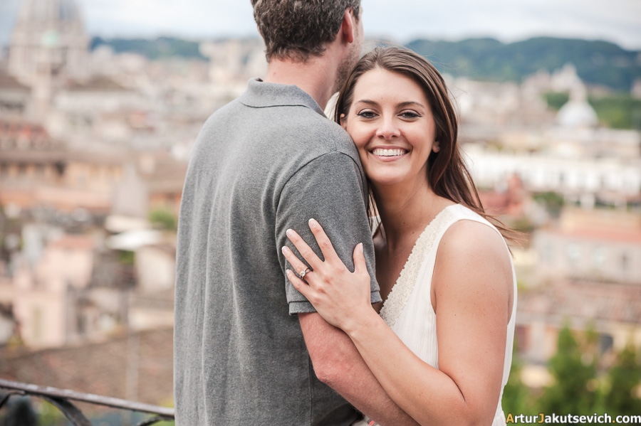 Engagement photos in Rome