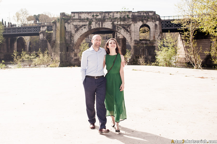 Engagement in Rome photo