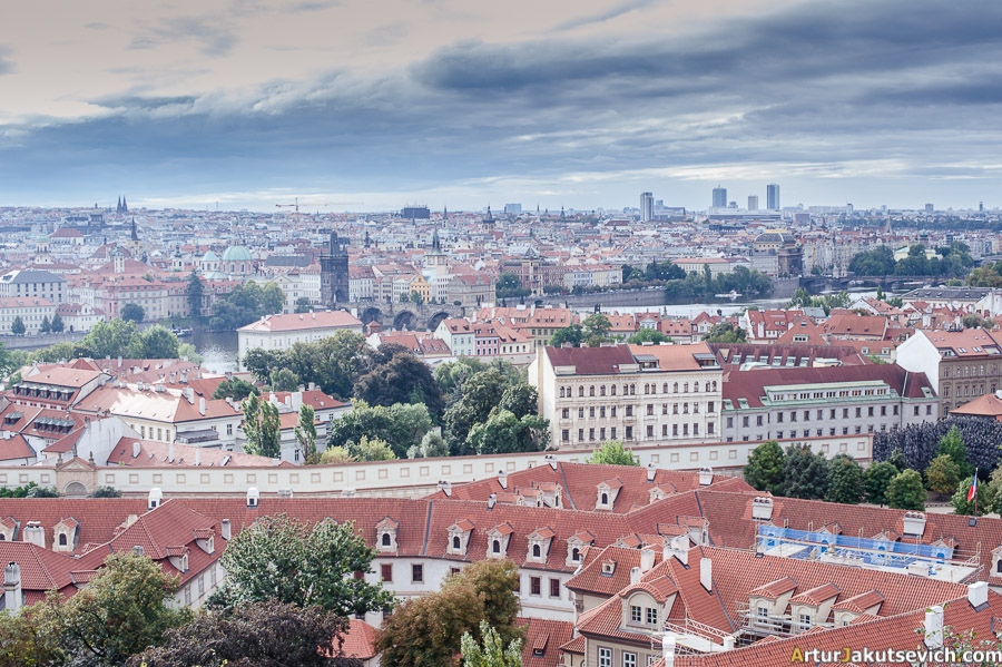 Praha red roofs