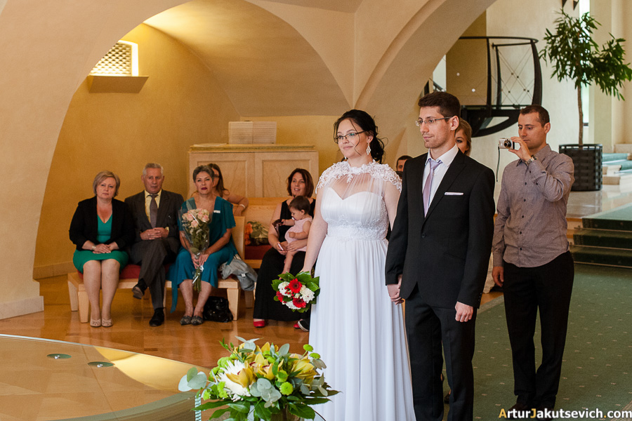 Old town city hall Prague wedding