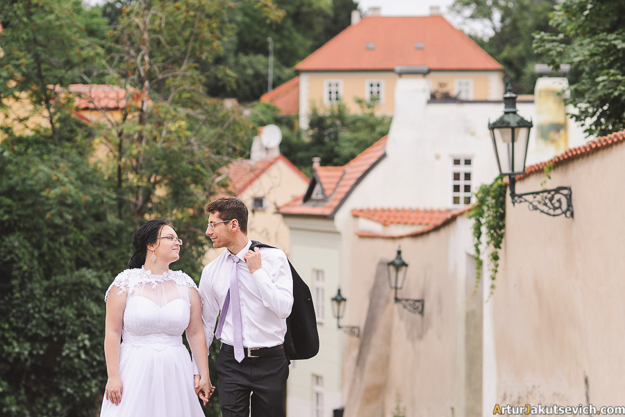 Jewish wedding photography in Prague
