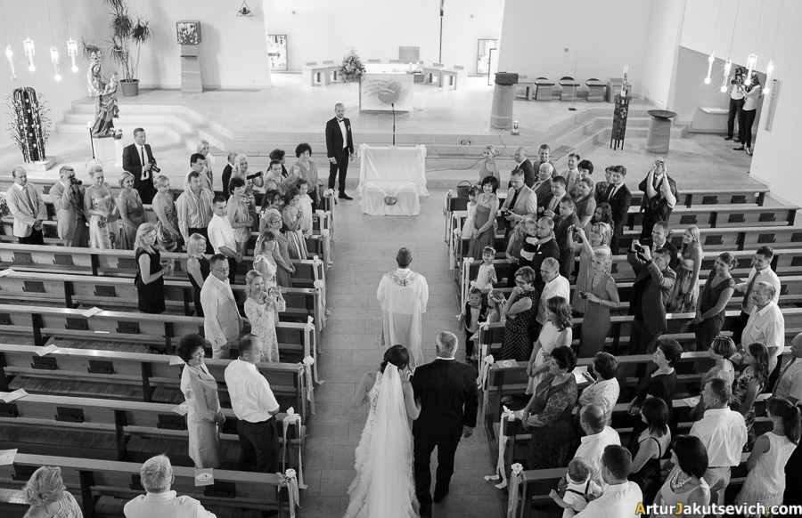 German wedding in Church