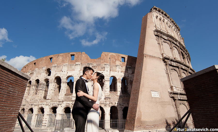 photo shooting near colosseum