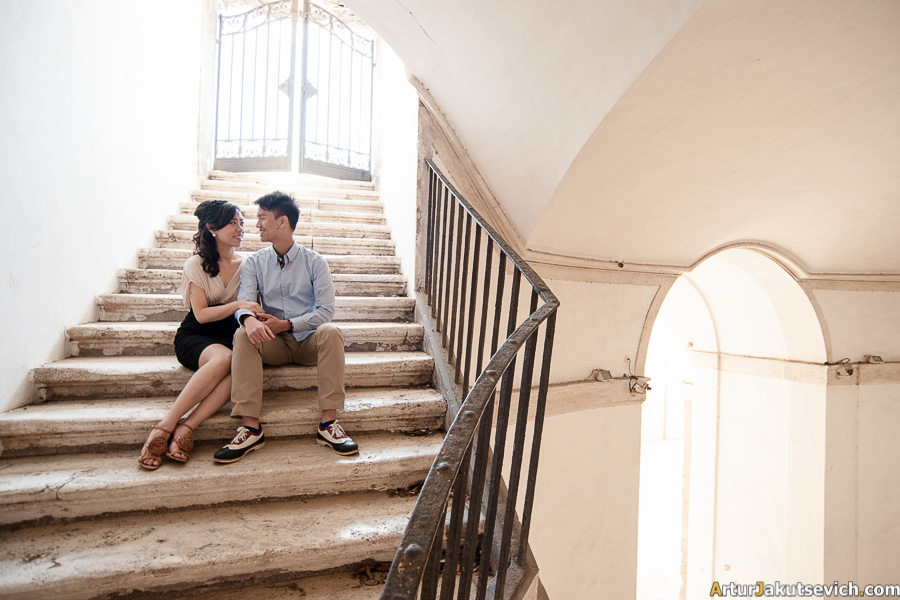 Ideas for honeymoon photo shooting in Rome