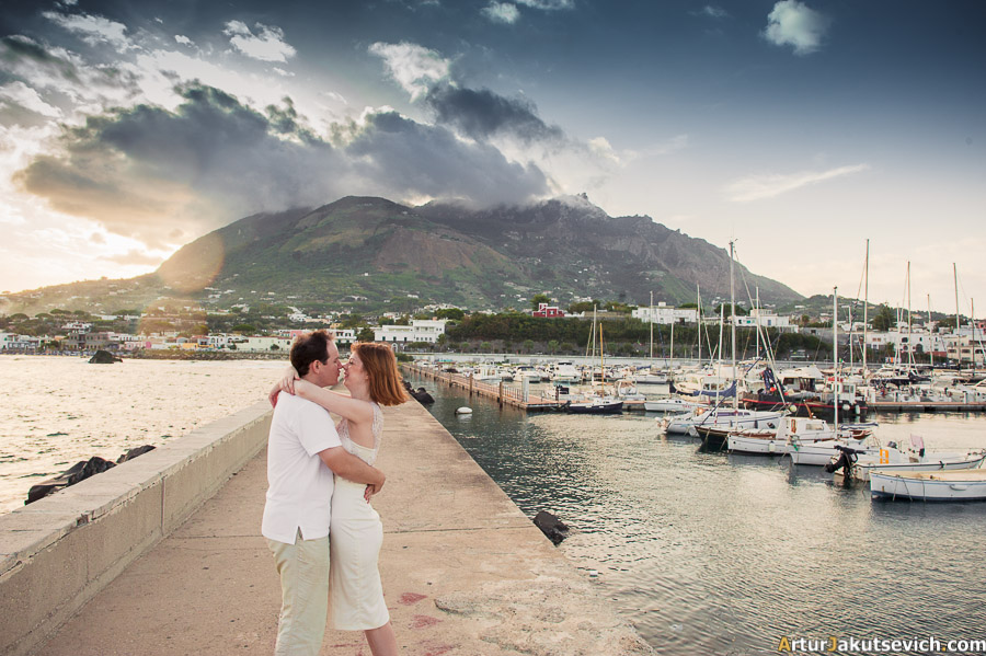 Ischia honeymoon photo shooting