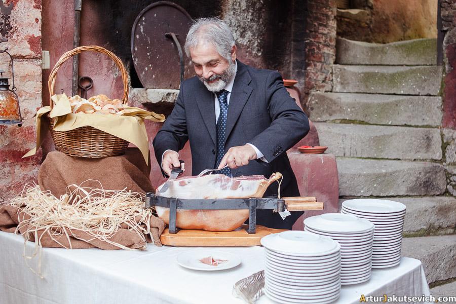 Italian wedding dinner