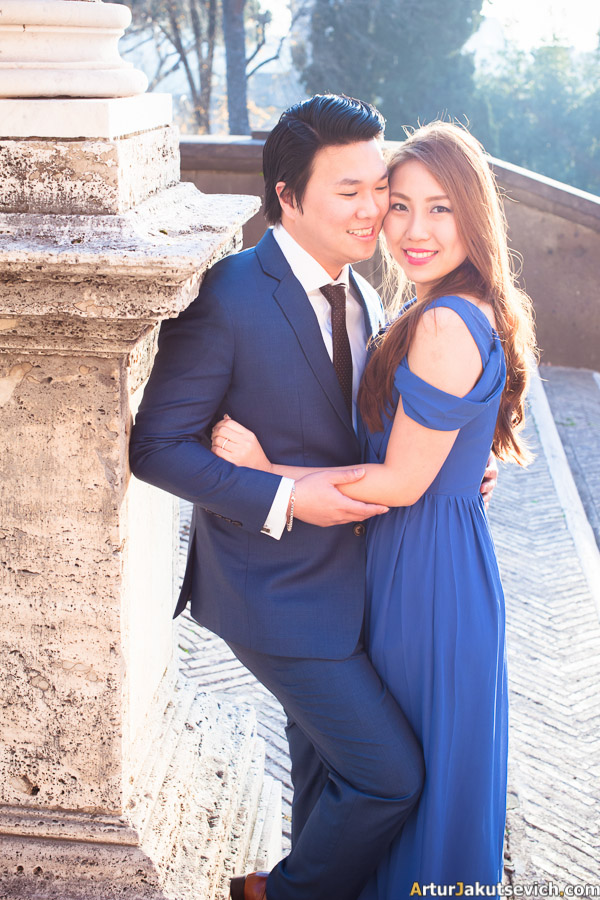 Singapore couple in Rome