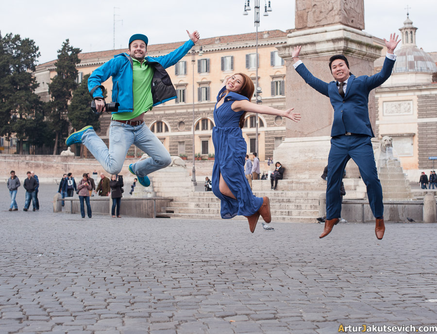 Wedding photo shooting in Rome in January