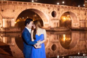 Night photo shooting in Rome