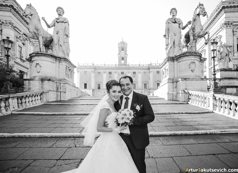 Happy brides in Rome