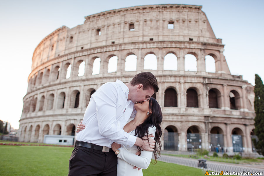 Rome Coliseum engagement