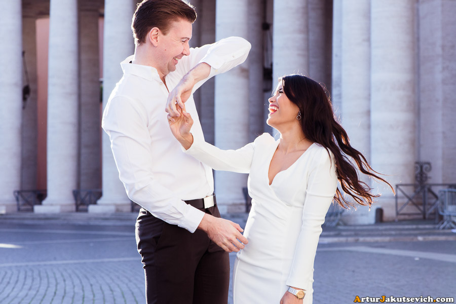 Pre wedding photo shooting in Rome Vatican